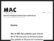Tablet Preview of macproductions.tv